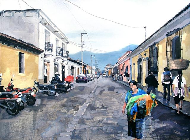 "Antigua, Guatemala 24""x32"" Oil"