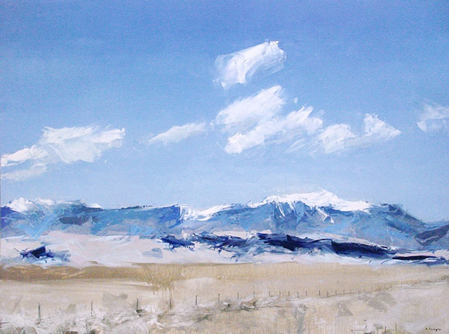 "'Sand dunes, San Luis Valley ' Colorado. 30""x40"" Oil on wood 2012"