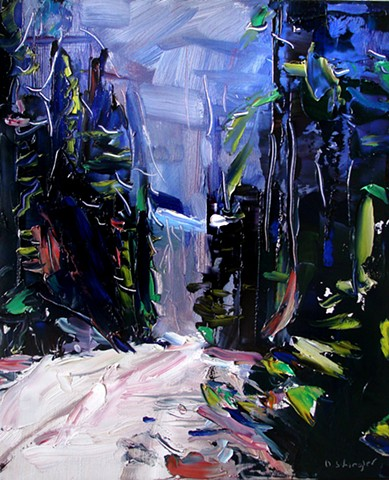 """'Guanella Pass. Colorado'  10""""x12"""" Oil on wood."""