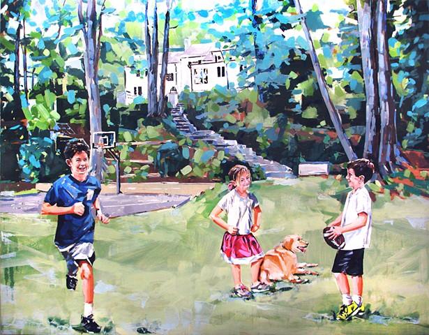 "'Portrait' 66""x84"" Oil on wood"