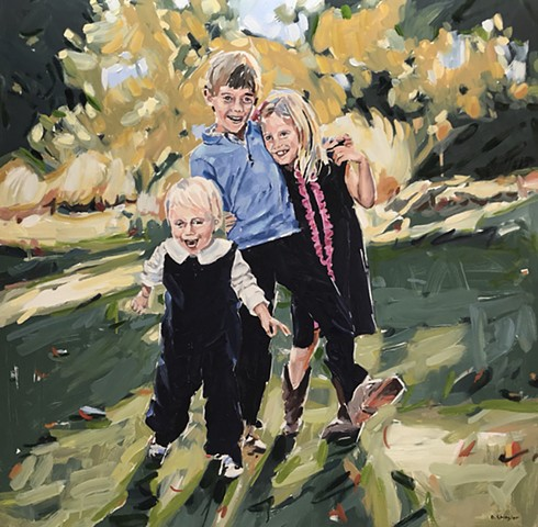 "'Portrait'  36""x36"" Oil on wood"