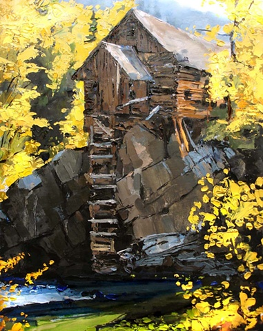 "Colorado. Cabin  18""x23"" Oil"