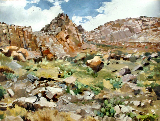 "Texas. Big Bend National Park 24""x32"" Oil"