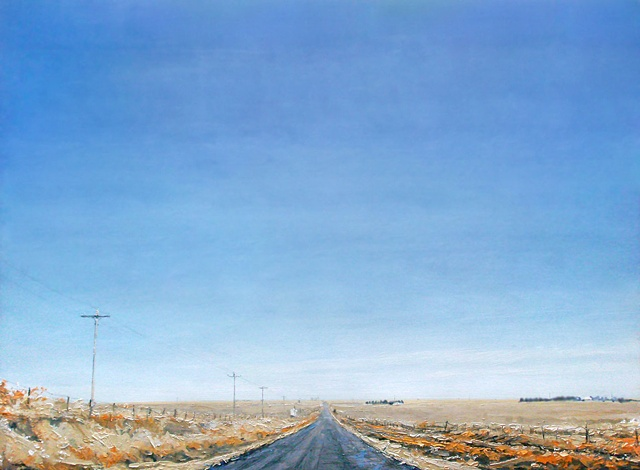 "Western Plains 48""x66"" Oil"