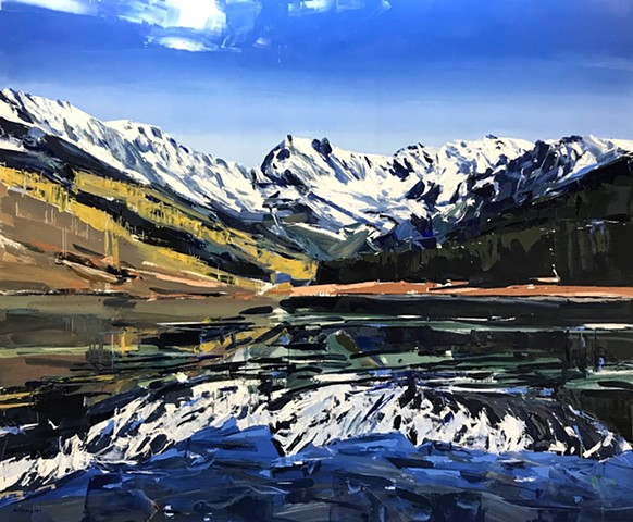 "'Vail Colorado'  40""x48"" Oil on wood"