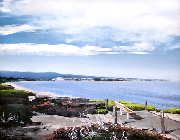 "Monterey Bay California 21""x27"" Oil"