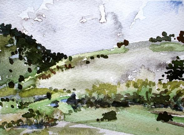 """Colorado.  Lookout Mt.  5""""x7"""" Watercolor"""