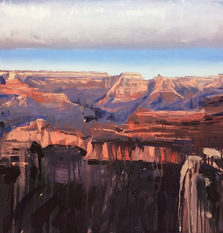 "'Grand Canyon'  24""x24"" Oil on wood"