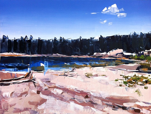 "'Yellowstone National Park'  30""x40"" Oil on wood."