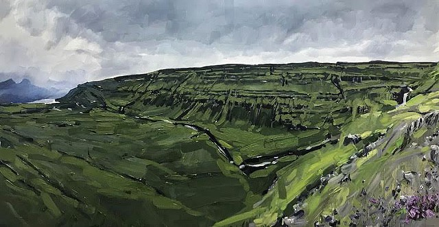 "'Iceland'  24""x48"" Oil on wood"