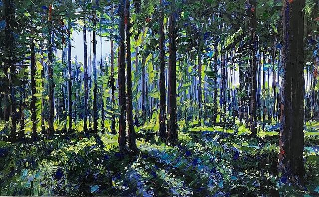 "'Nantahala National Forest. NC' 30""x48"" Oil on wood."