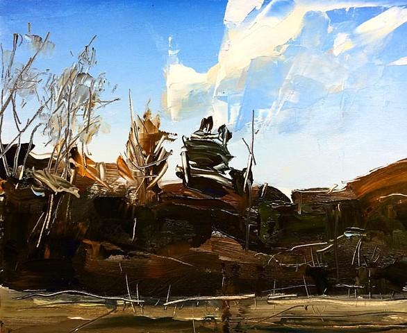 """'Banner Elk. NC'  8""""x10"""" Oil on wood"""