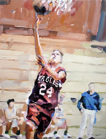 "Sports Portrait #3 12""x16"" Oil on wood"