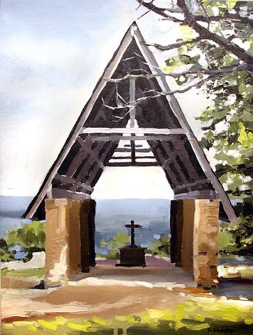 """Chapel 11""""x14"""" Oil"""
