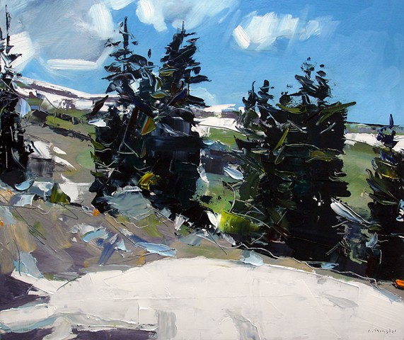 "'Above Tree Line, Holy Cross Wilderness, CO'  20""x24"" Oil on wood"