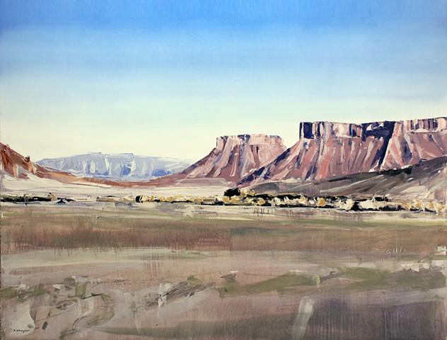 "PaintingsContactLinksResume 'Moab, Utah' 36""x48"" Oil on wood"