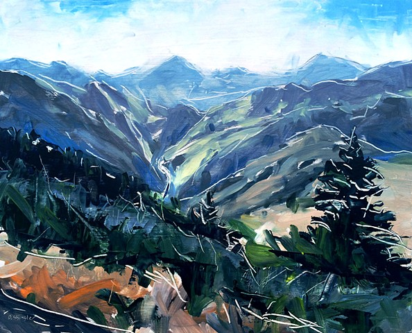 "'Lookout Mountain. Golden, CO'  16""x20"" Oil on wood"