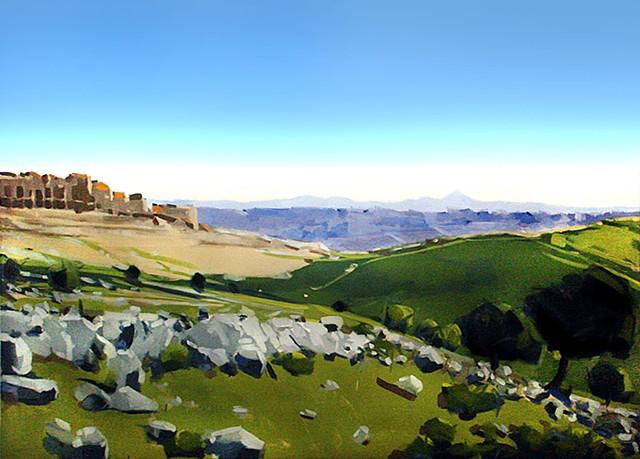 """Commission for Fellowship Denver Church  'Judea, Bethlehem' 72""""x108"""" Oil on canvas"""