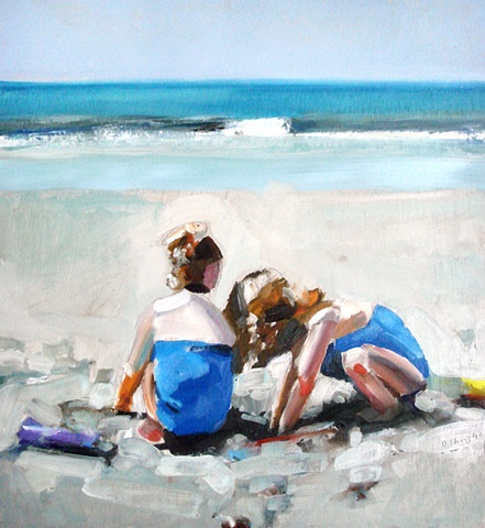"Portrait: 'Pine Knoll Shores' NC 21""x23"" Oil on wood"