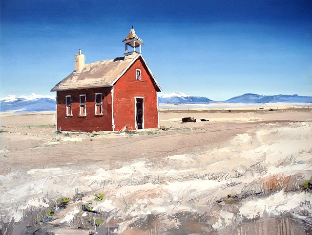 "Commission for Perkins Coie Law Firm 'The Old Schoolhouse' 30""x40"" Oil"