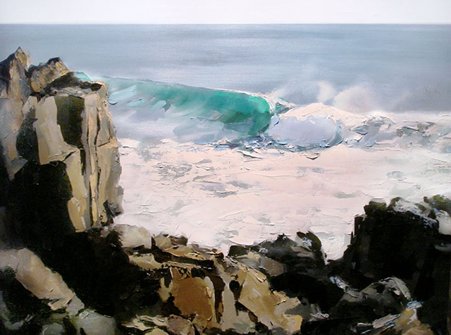 "California. Wave 24""x32"" Oil"