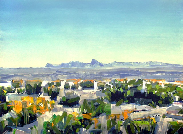 "'Big Bend National Park, Texas'  48""x66"" Oil on wood"