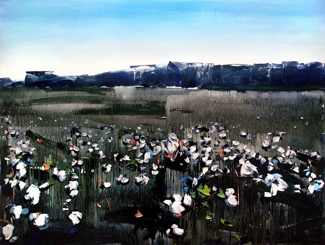 "'Cotton' 36""x48"" Oil on wood"