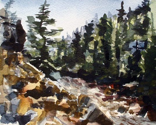 "Colorado. Boulder Creek  8""x9"" Watercolor"