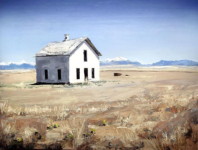 "Colorado. House  27""x36"" Oil"