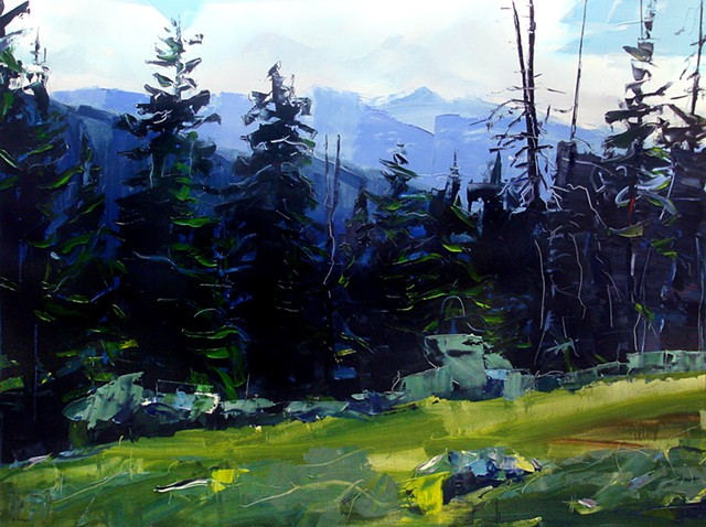"'Holy Cross Wilderness, Colorado'  36""x48"" Oil on wood"