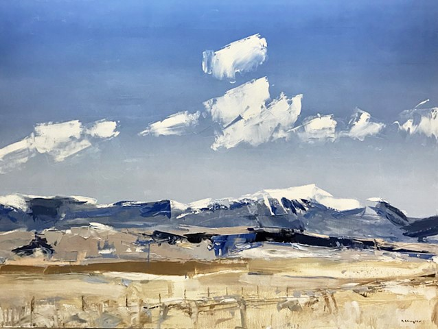 "'Sange De Cristo Mountains. Colorado' 30""x40"" Oil on wood"