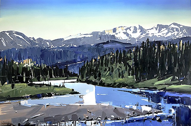 "'Snake River. WY'  40""x60"" Oil on wood"