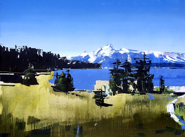 "'Grand Tetons National Park, WY' 36""x48"""