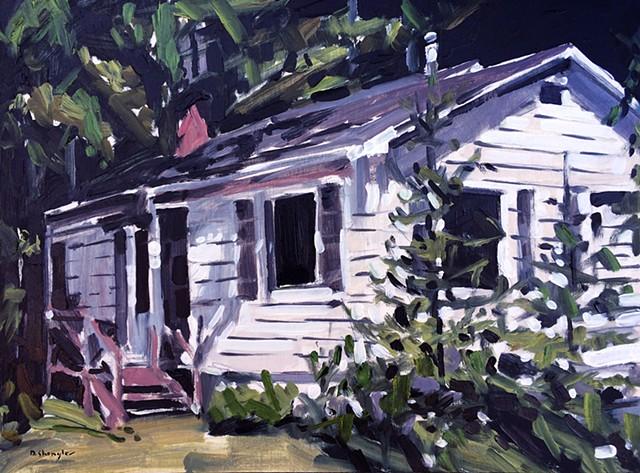 "'House'  12""x16"" Oil on wood"