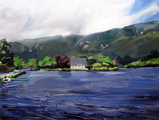 "'Gougane Barra. Ireland' 21""x28"" Oil on wood"