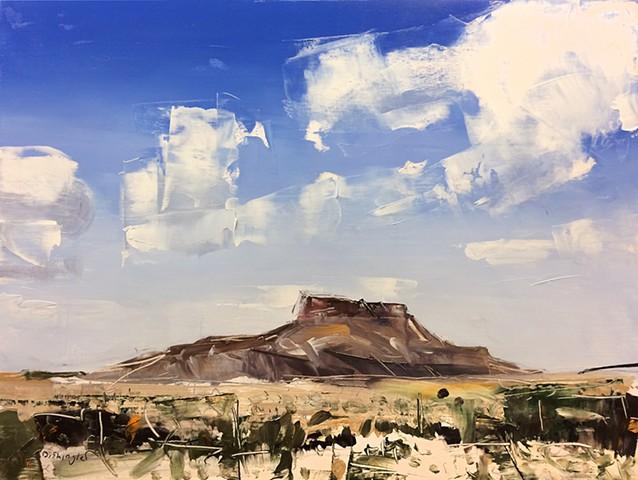 """'Alpine Texas' 18""""x24"""" Oil on wood"""