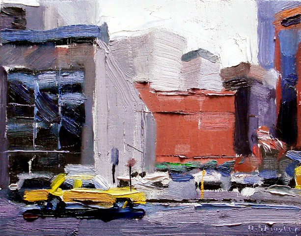 "Urban Denver 5.5""x7"" Oil on wood"