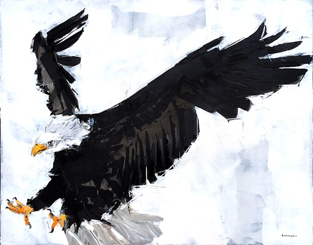 "'Eagle 2' 24""x30"" Oil on wood"