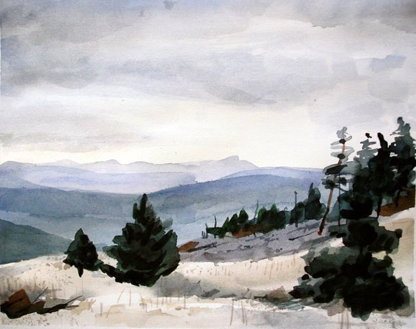 "Colorado. Mt. Falcon 11""x14"" Watercolor"