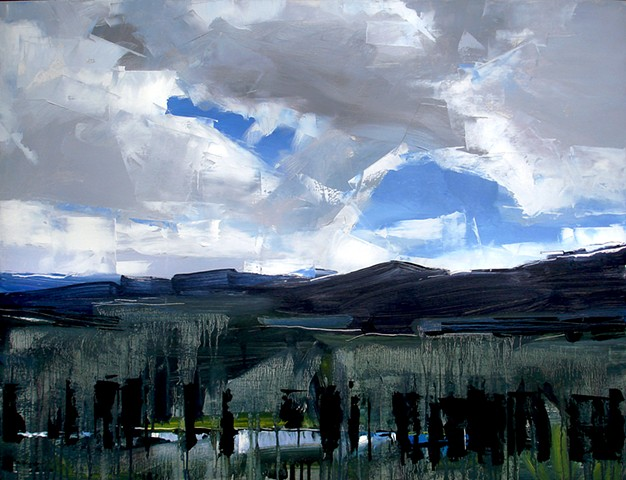 "'Tabernash Landscape Colorado'  29""x38"" Oil on wood"