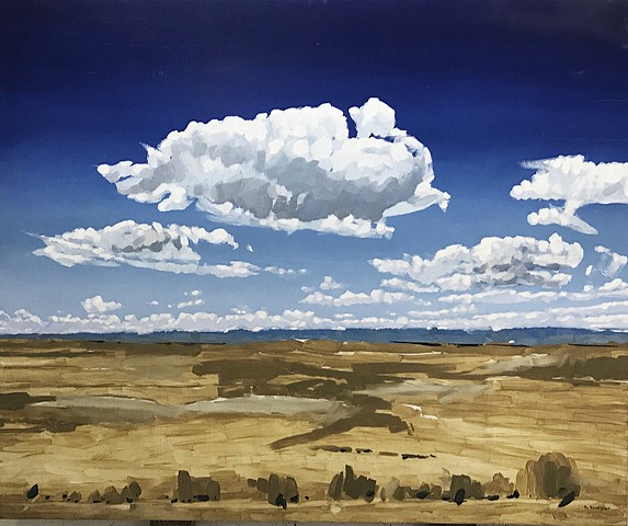 "'Wyoming Clouds' 40""x48"" Oil on wood"