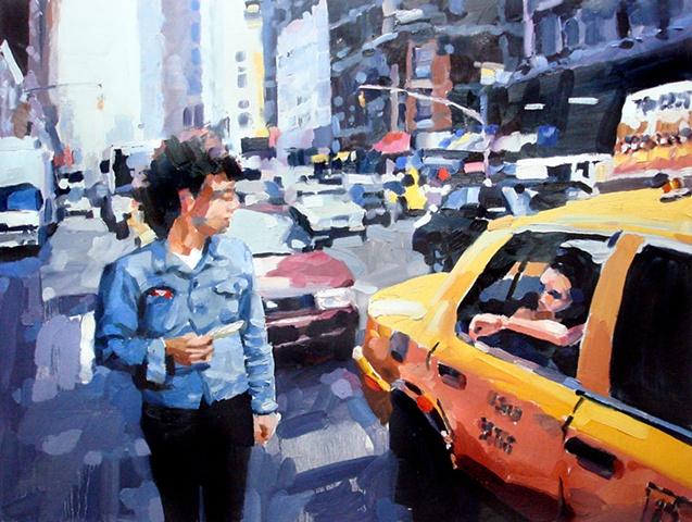 "New York City #1 24""x32"" Oil on wood"