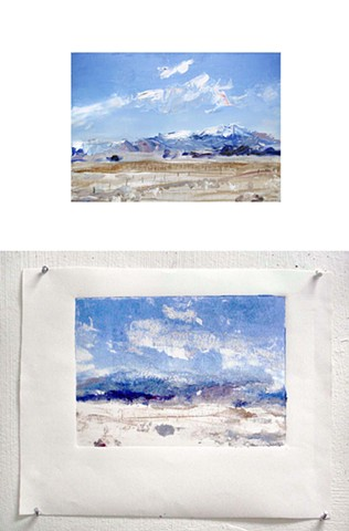 "'San Luis Valley. Colorado' Press print of painting.  15""x19"" Oil on canvas"