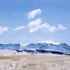 "'Sand dunes, San Luis Valley ' Colorado. 30""x40"" Oil on wood"