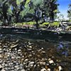 "'Rock Creek. Montana' 24""x30"" Oil on wood"