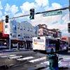 "'Lafayette & Colfax. Denver, CO'  36""x48"" Oil on canvas"