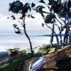 "'Beacon's Reach. Pine Knoll Shores, NC'  12""x14"" Oil on wood."