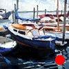 "'Beaufort Docks' North Carolina Coast 20""x24"" Oil on wood NFS (Midtown Art Consultants)"