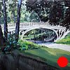 "Commission for HBO Office, New York. 'Gothic Bridge' Central Park.  24""x24"" Oil"