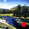 """'The Gibbon River. Yellowstone National Park, Wyoming' 35""""x48"""" Oil on wood."""